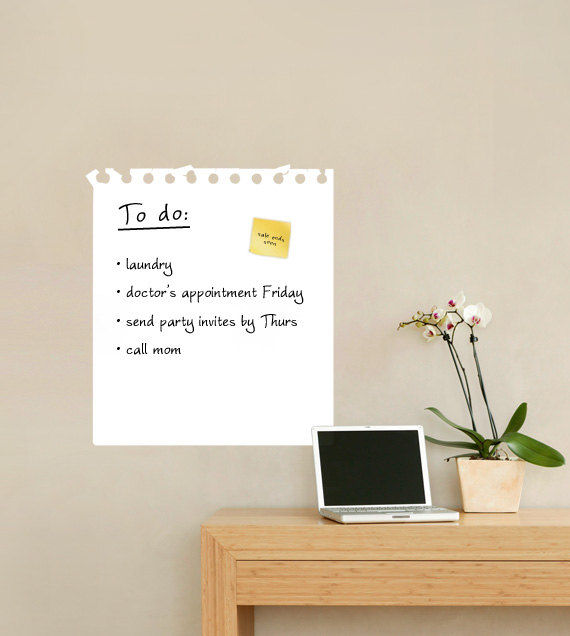 Dry Erase Wall Memo Decal - Wall Sticker Outlet