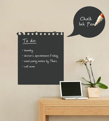 chalkboard memo wall decal