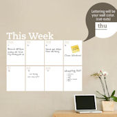 Weekly Dry Erase Calendar Wall Decal