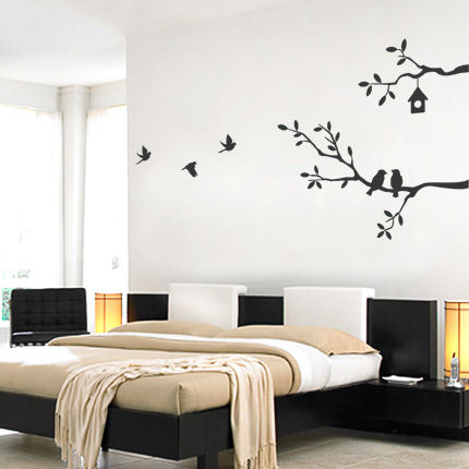 Cute Birds with Branches Decals - Wall Sticker Outlet