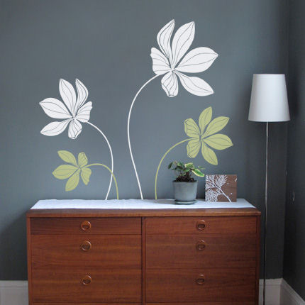 Cyclamen Flower Decals - Wall Sticker Outlet