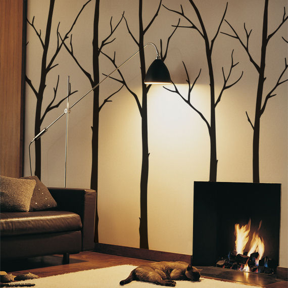 Black Winter Trees Decals - Wall Sticker Outlet