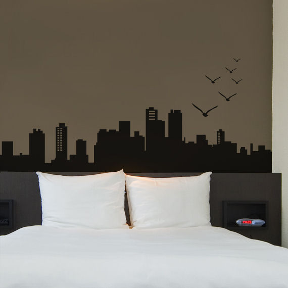 City Skyline Wall Decal - Wall Sticker Outlet