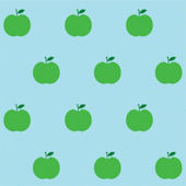 Apples Blue and Green  Peel and Stick Wallpaper