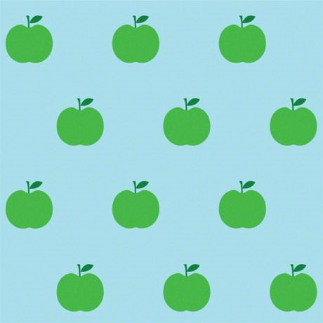 Apples Blue and Green  Peel and Stick Wallpaper - Wall Sticker Outlet