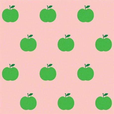 Apples Pink and Green Peel and Stick Wallpaper
