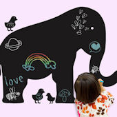 Wall Candy Arts Baby Elephant Chalkboard Mural
