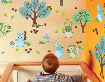 Wall Candy Arts Forest Animals Wall Stickers - Wall Sticker Outlet