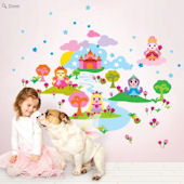 Wallcandy Arts French Bull Princess Wall Decal