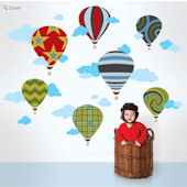Wallcandy Arts Hot Air Ballon Wall Decal