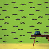 Mustache  Peel and Stick Wallpaper