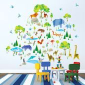 Wall Candy Origami Zoo Animals Wall Decals
