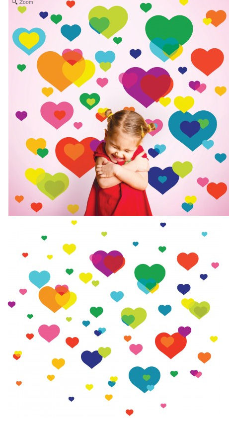 sc 1 st  Wall Sticker Outlet & Wallcandy Arts Overlapping Hearts Wall Decal