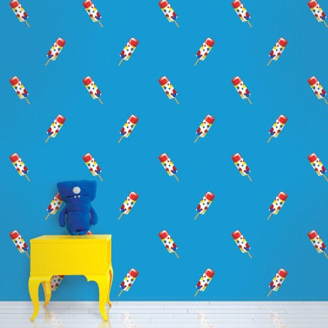 Push Pops Blue  Peel and Stick Wallpaper - Wall Sticker Outlet