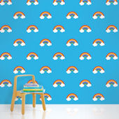 Rainbow Blue  Peel and Stick Wallpaper SALE