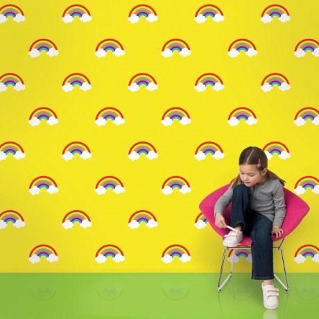 Rainbow Yellow  Peel and Stick Wallpaper - Wall Sticker Outlet