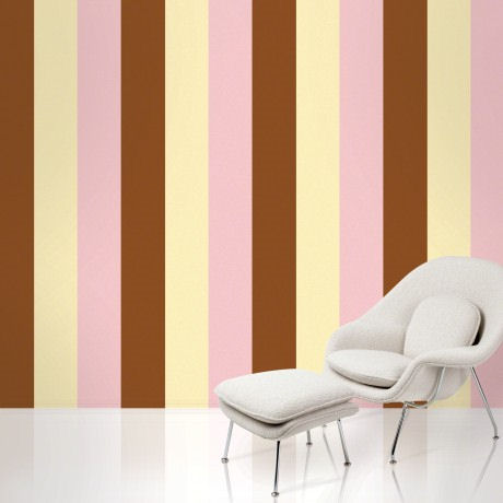 Stripe Neapolitan  Peel and Stick Wallpaper - Wall Sticker Outlet
