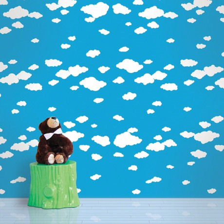 Summer Clouds  Peel and Stick Wallpaper - Wall Sticker Outlet