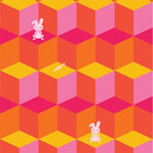 Tumbling Bunnies  Peel and Stick Wallpaper
