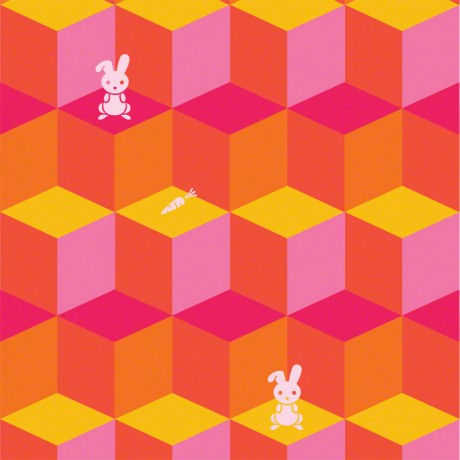 Tumbling Bunnies  Peel and Stick Wallpaper - Wall Sticker Outlet