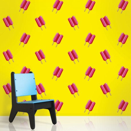 Twin Pop Pink and Yellow  Peel and Stick Wallpaper - Wall Sticker Outlet