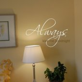 Always Kiss Me Goodnight Vinyl Wall Sticker