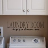 Laundry Room Vinyl Wall Sticker