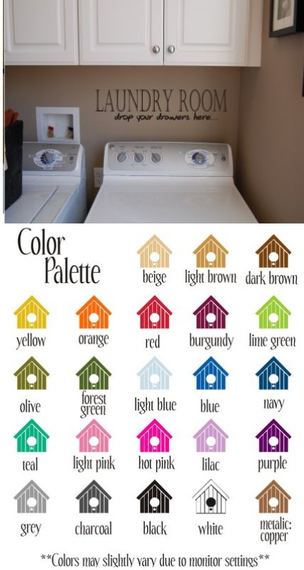 Laundry Room Vinyl Wall Sticker - Wall Sticker Outlet