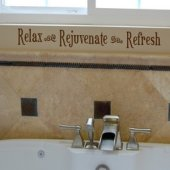 Relax Rejuvenate Refresh Vinyl Wall Sticker