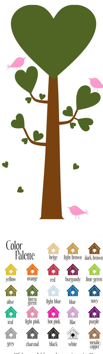 Tree of Love Vinyl Wall Sticker - Wall Sticker Outlet