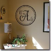 Wall Monogram Home Decals