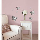 Wall Pops 3D Butterfly Mirrors Set 7