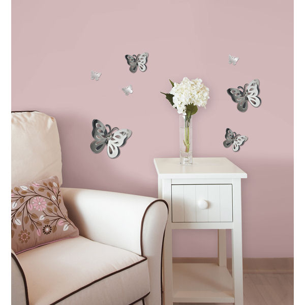 Wall Pops 3D Butterfly Mirrors Set 7 - Wall Sticker Outlet