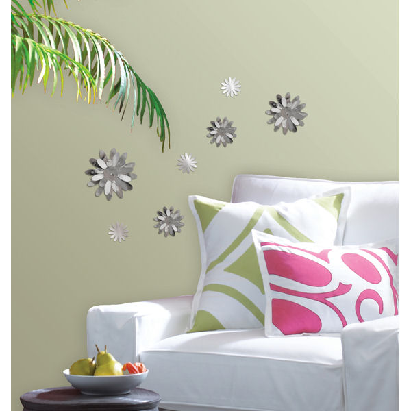 Wall Pops 3D Flower Mirrors Set 7 - Wall Sticker Outlet