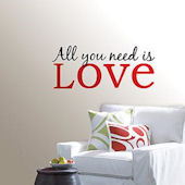 All You Need Is Love Wall Phrase