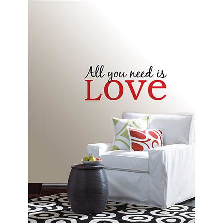 All You Need Is Love Wall Phrase - Wall Sticker Outlet