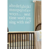 Baby Blue Alphabet Wall Sticker Set SALE