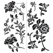 Wall Pops Brocade Wall Art Sticker Kit