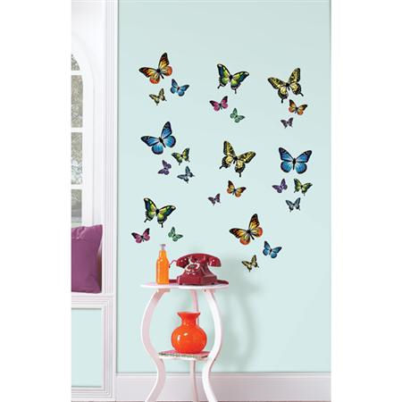 Wall Pops Butterflies Peel and Stick - Wall Sticker Outlet