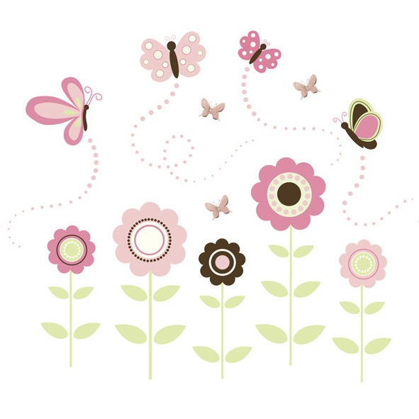 Wall Pops Butterfly Garden Wall Sticker Kit - Wall Sticker Outlet