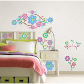 Wall Pops Cutsie Blooms Peel and Stick