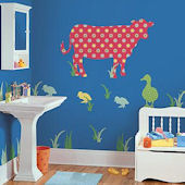 Wall Pops Zoo Wallogy Dakota Cow Wall Sticker