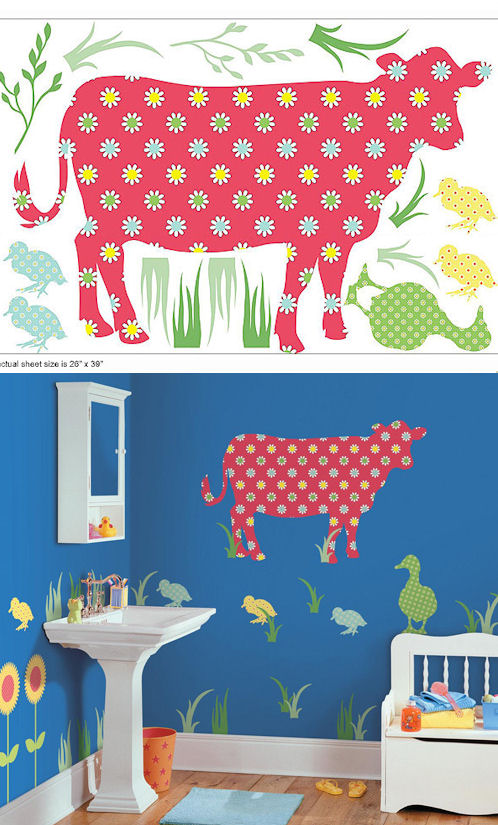 Wall Pops Zoo Wallogy Dakota Cow Wall Sticker - Wall Sticker Outlet