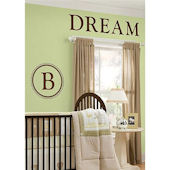 Durham Monogram Espresso Brown Wall Sticker