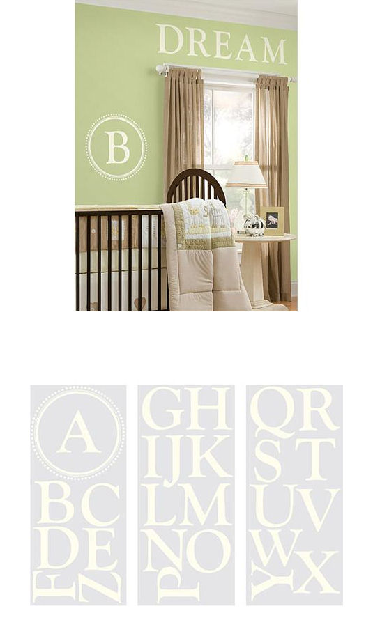 Durham Monogram White Wall Sticker - Wall Sticker Outlet
