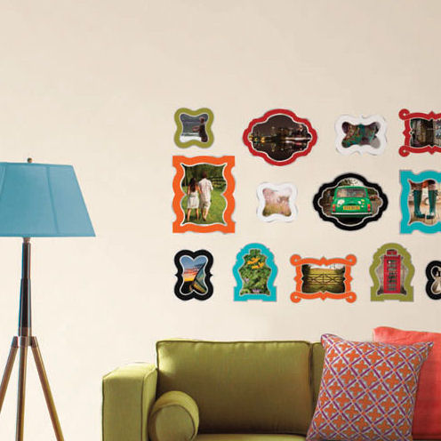 Jonathan Adler Enamel Frames Wall Sticker Kit SALE - Wall decals with picture frames