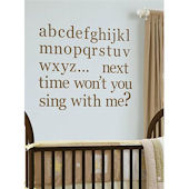 Espresso Alphabet Wall Sticker Set