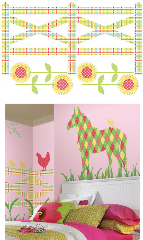 Wall Pops Zoo Wallogy Fence Wall Sticker - Wall Sticker Outlet