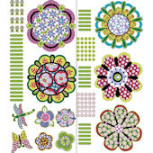 Wall Pops Flower Power Wall Art Sticker Kit