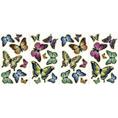 Glow in the Dark Butterflies Peel and Stick